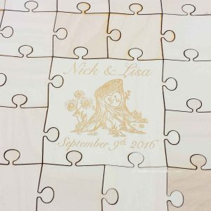 Tree Stump Wedding Guest Book Puzzle