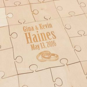 Intertwined Rings Wedding Guest Book Puzzle