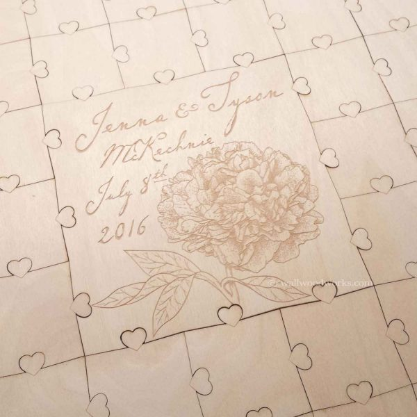 Wedding Flowers Guest Book Puzzle