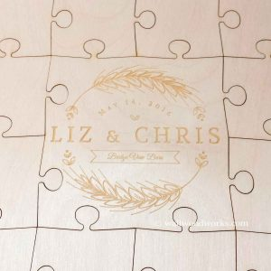 Wheat Stalks Wedding Guest Book Puzzle