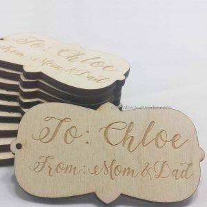 Wood Gift Tag - Mom