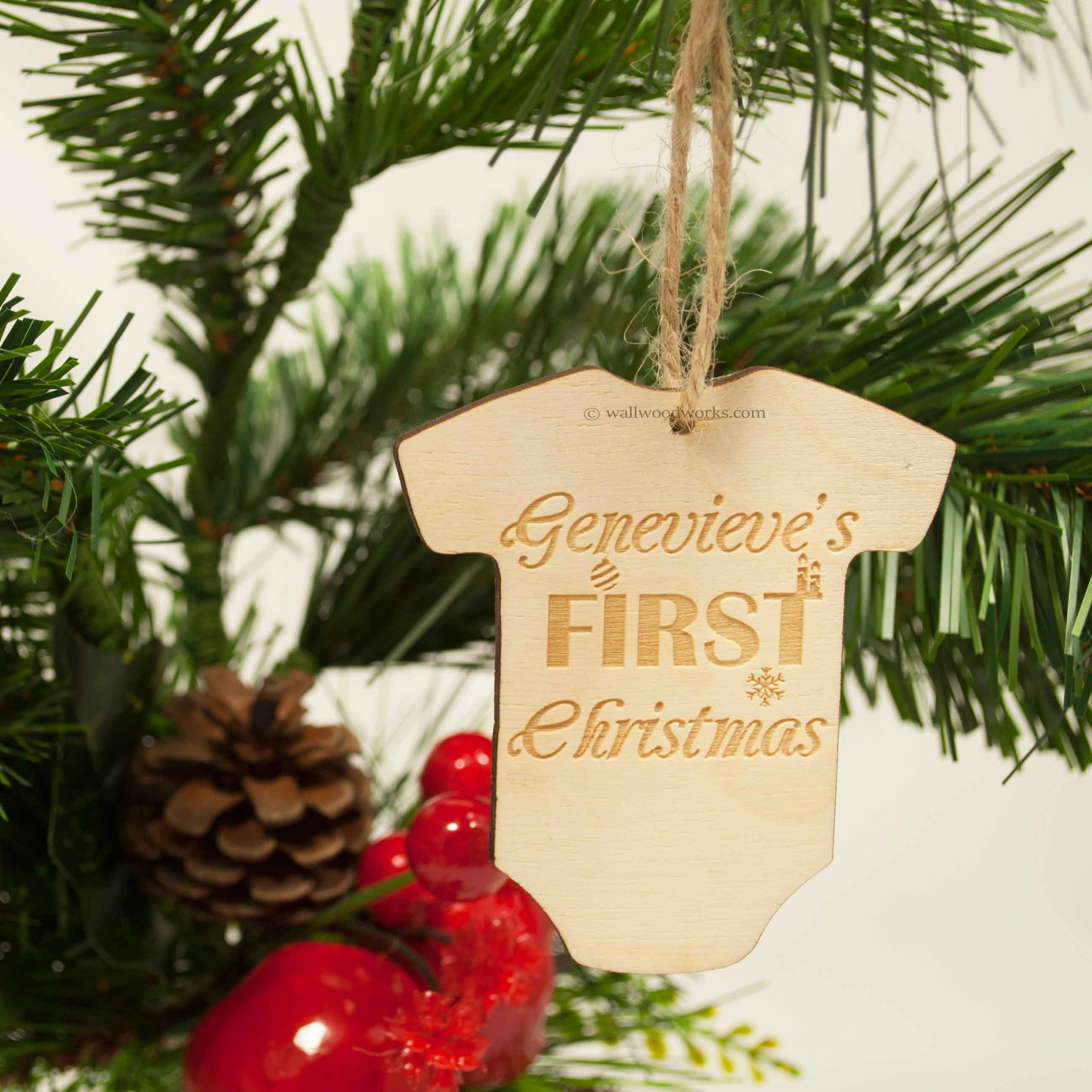 Tree Decoration - Baby First Christmas - Wall Woodworks Company