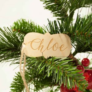 Wood Gift Tag - Name