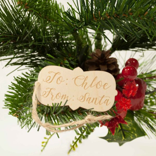 Wood Gift Tag - Santa